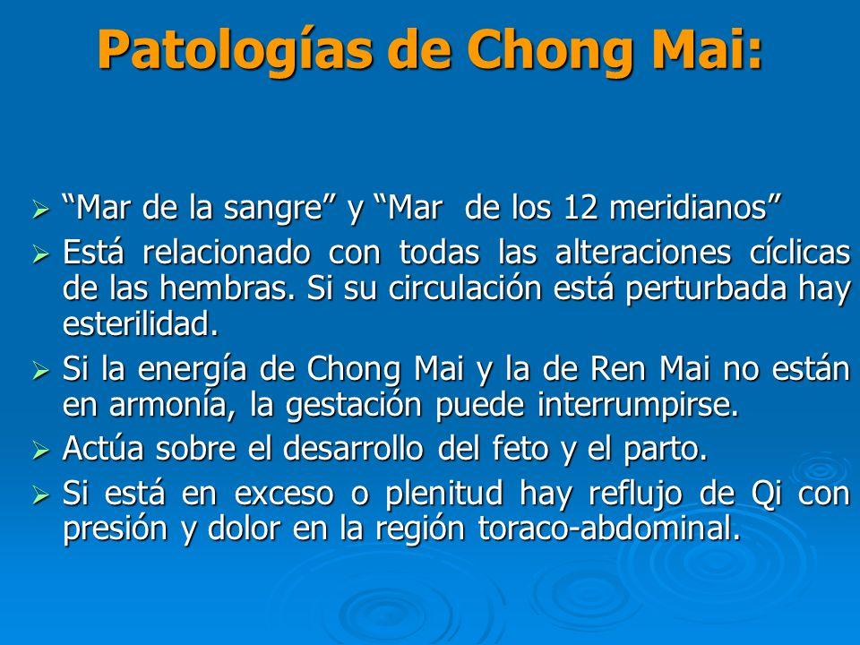 Patologías de Chong Mai: Mar de la sangre y Mar de los 12 meridianos Mar de la sangre y Mar de los 12 meridianos Está relacionado con todas las altera