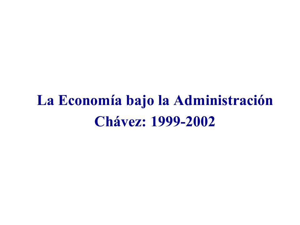 La Economía bajo la Administración Chávez: 1999-2002