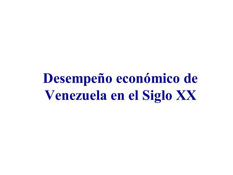 Desempeño económico de Venezuela en el Siglo XX