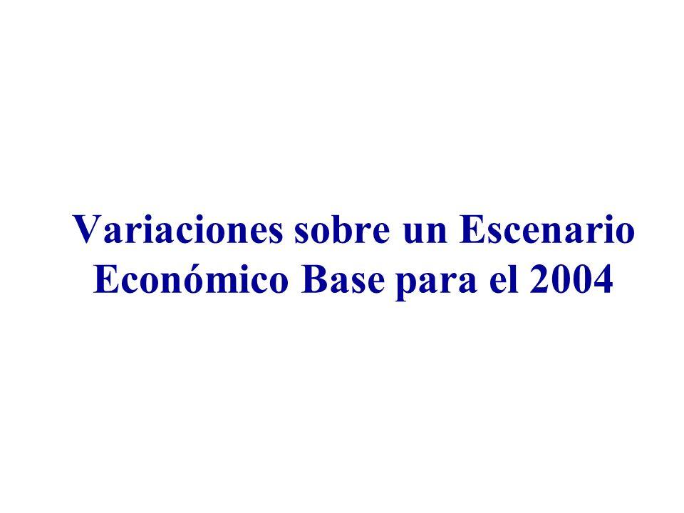 Variaciones sobre un Escenario Económico Base para el 2004