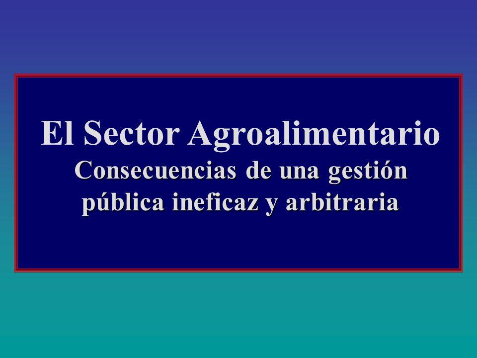 El Sector Agroalimentario Consecuencias de una gestión pública ineficaz y arbitraria