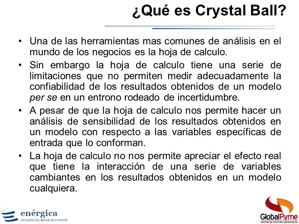 enérgica Consultoría y Banca de Inversión Gestión de Riesgo Simulación y Crystal Ball ®