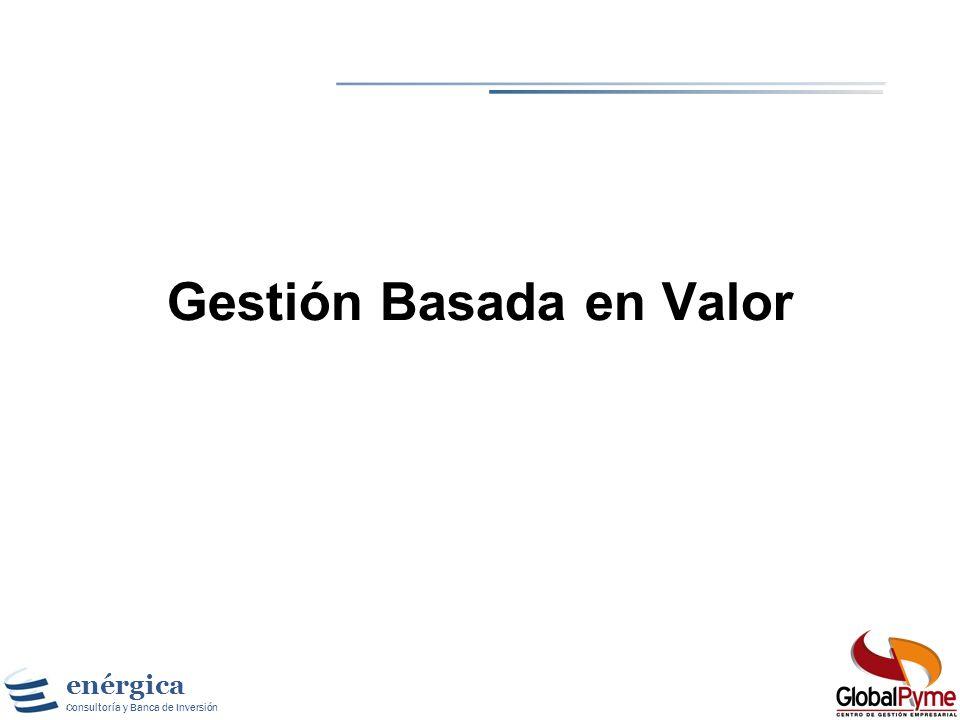 enérgica Consultoría y Banca de Inversión Definición de Valor de un Activo donde: n es la vida del activo, CF t es el flujo de caja del activo en el t