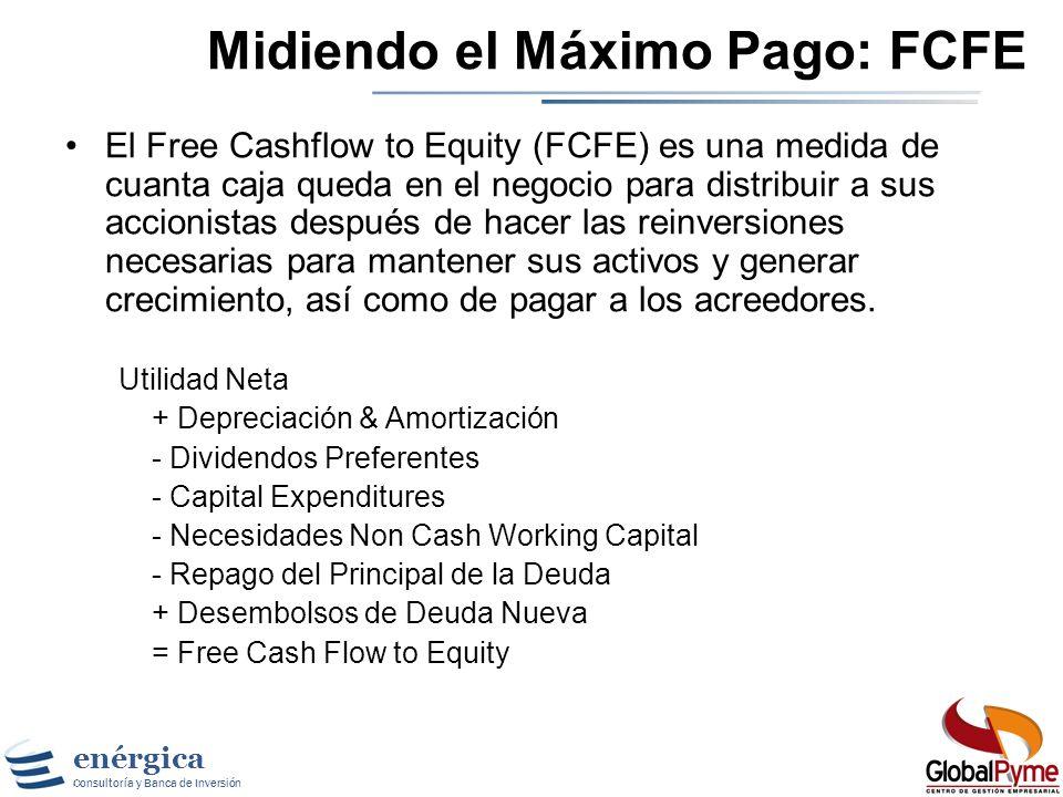 enérgica Consultoría y Banca de Inversión Enfoque 1: Caja y Confianza Paso 1: Cuanto podría haber pagado la compañía en el periodo de análisis ? Paso