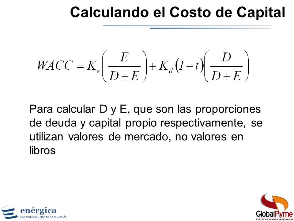 enérgica Consultoría y Banca de Inversión Herramientas de Gestión Financiera Cálculo del Costo de Capital
