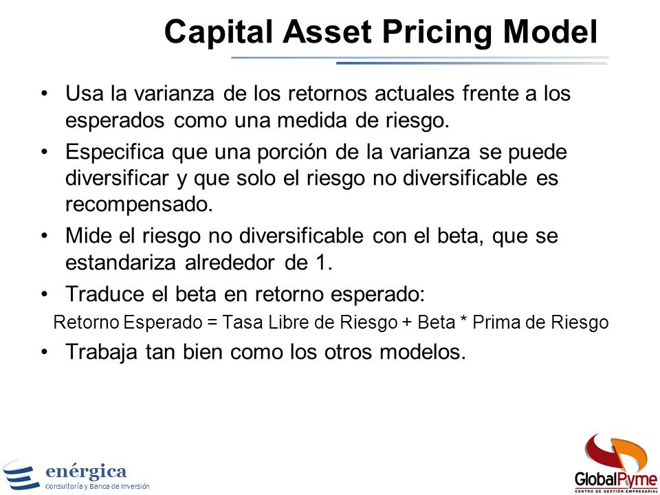 enérgica Consultoría y Banca de Inversión Ke: Modelo Gordon Shapiro Dividend Yield Crecimiento en Dividendos/Utilidades Tasa Reinversión de Utilidades
