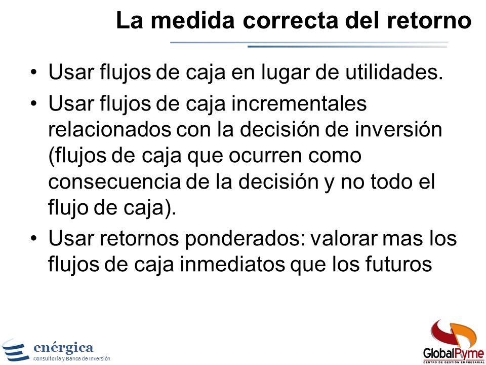 enérgica Consultoría y Banca de Inversión El efecto del CapEx El CapEx no es tratado como un gasto contable pero si afecta el flujo de caja.