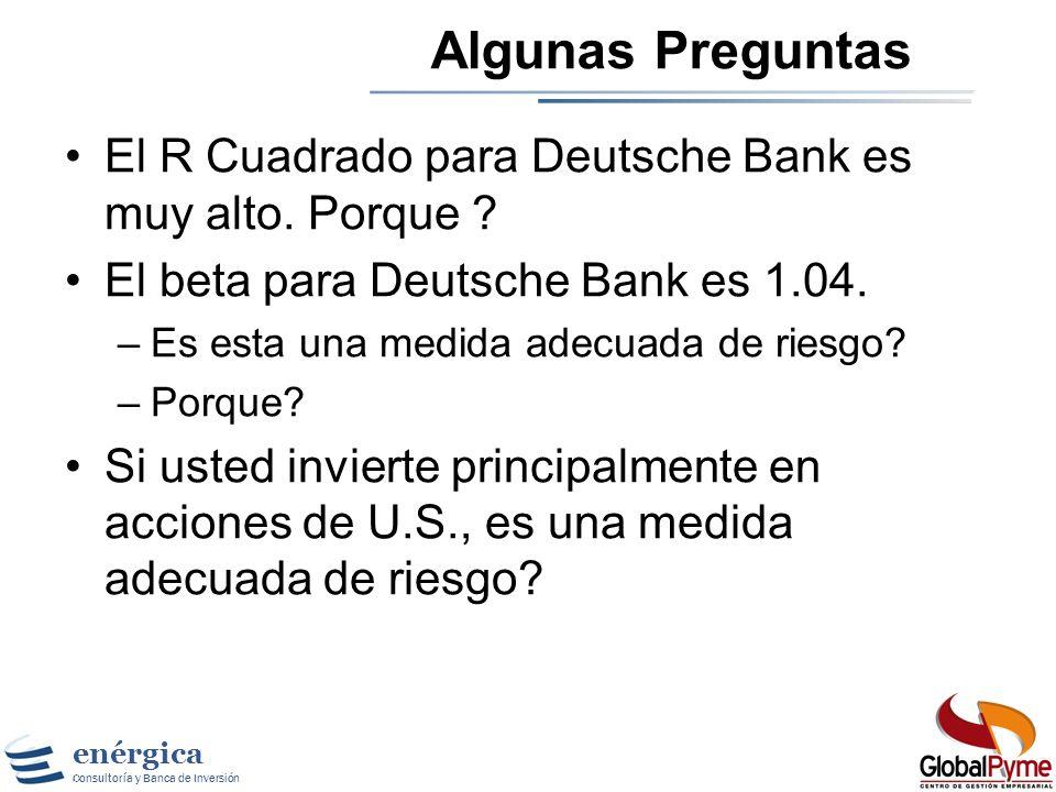enérgica Consultoría y Banca de Inversión Beta para Deutsche Bank