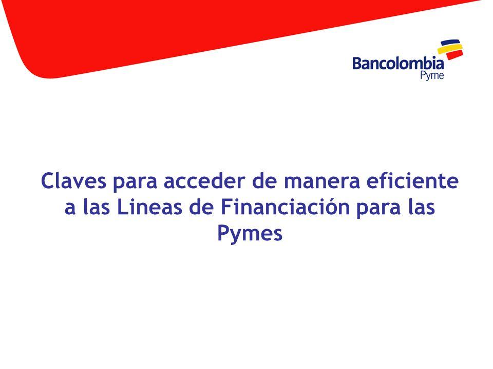 Fortalezca su relación con el sector financiero Importancia del buen manejo administrativo y contable Consejos para la Presentación de proyectos Alternativas de financiación para las pymes