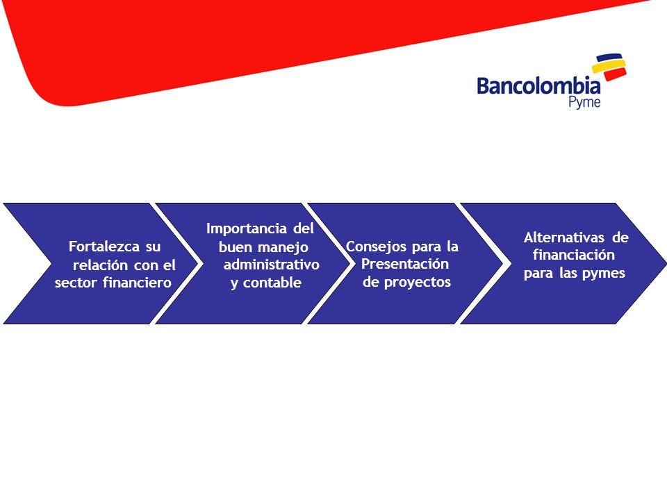 Fortalezca su relación con el sector financiero Importancia del buen manejo administrativo y contable Consejos para la Presentación de proyectos Alter