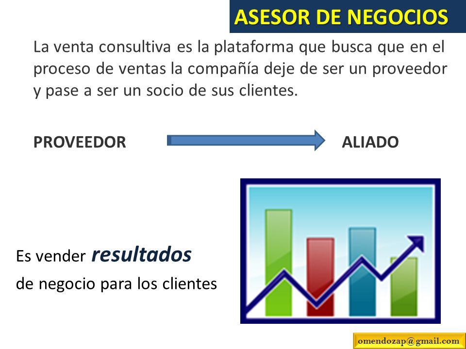 La venta consultiva es la plataforma que busca que en el proceso de ventas la compañía deje de ser un proveedor y pase a ser un socio de sus clientes.