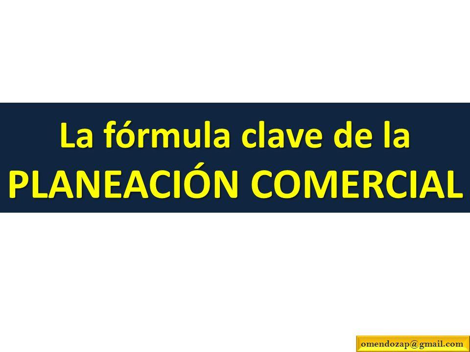 La fórmula clave de la PLANEACIÓN COMERCIAL omendozap@gmail.com