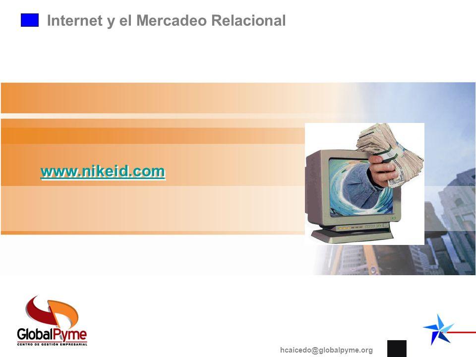 Internet y el Mercadeo Relacional www.nikeid.com hcaicedo@globalpyme.org