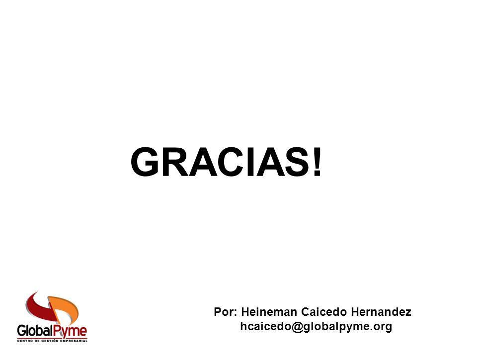 GRACIAS! GRACIAS! Por: Heineman Caicedo Hernandez hcaicedo@globalpyme.org