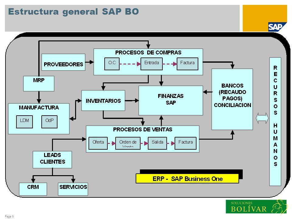 Page 9 Estructura general SAP BO