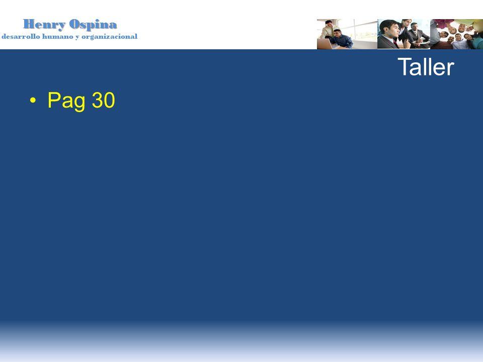 Henry Ospina desarrollo humano y organizacional Taller Pag 30