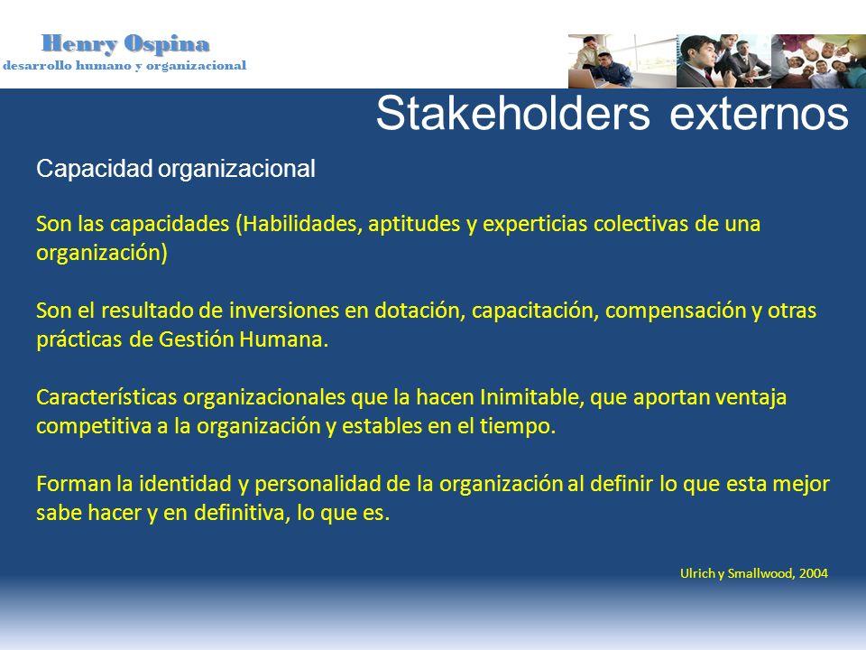 Henry Ospina desarrollo humano y organizacional Capacidad organizacional Son las capacidades (Habilidades, aptitudes y experticias colectivas de una o