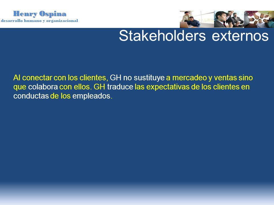 Henry Ospina desarrollo humano y organizacional Al conectar con los clientes, GH no sustituye a mercadeo y ventas sino que colabora con ellos. GH trad
