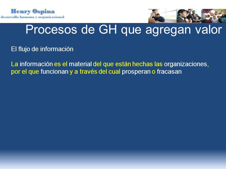 Henry Ospina desarrollo humano y organizacional El flujo de información La información es el material del que están hechas las organizaciones, por el