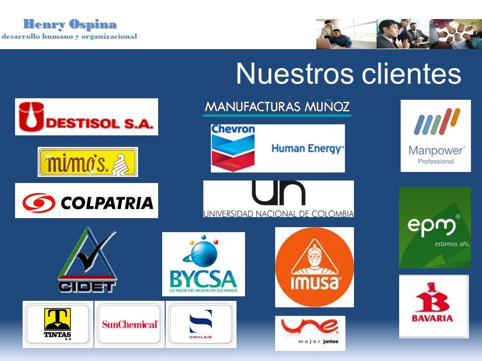 Henry Ospina desarrollo humano y organizacional Nuestros clientes