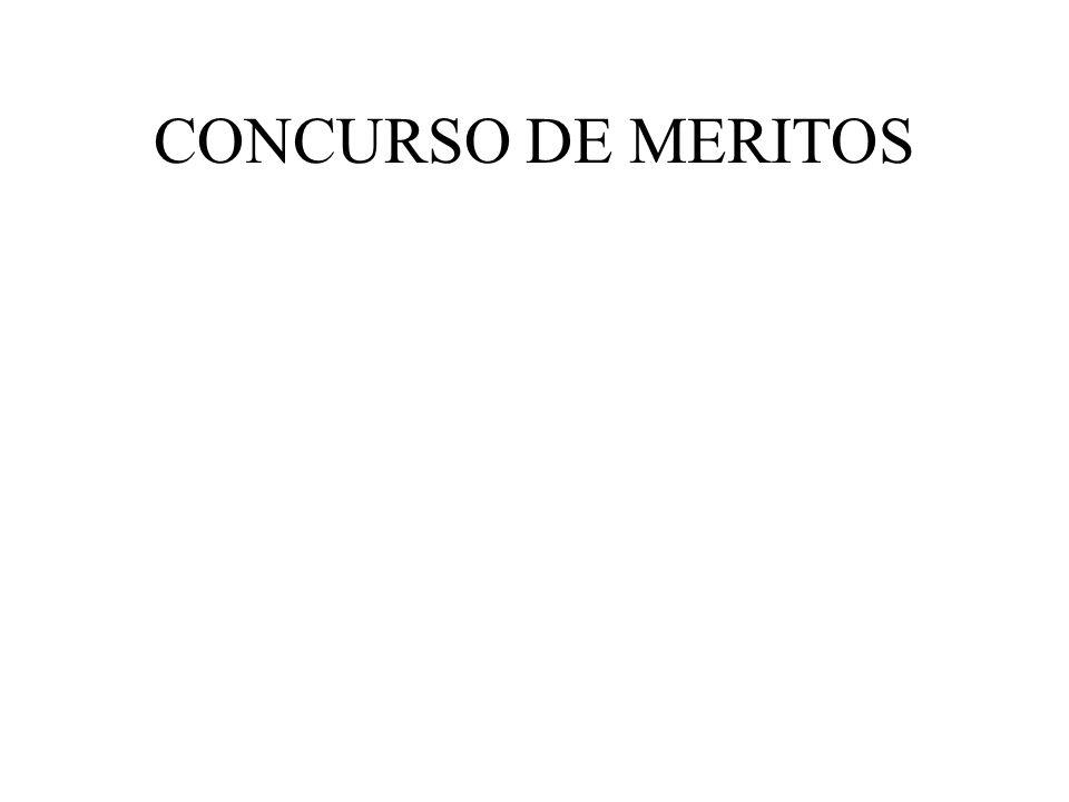 CONCURSO DE MERITOS