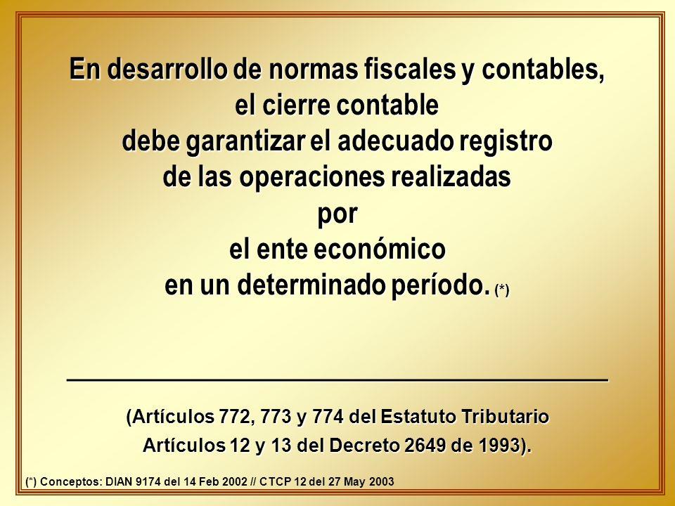 CIERRE CONTABLE Y FISCAL 26.