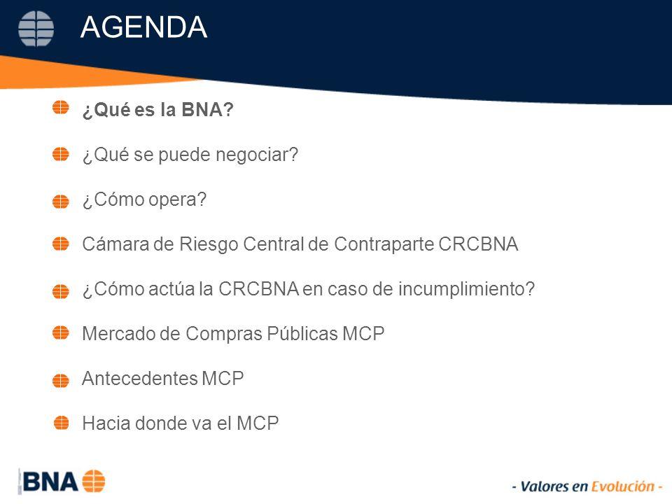AGENDA ¿Qué es la BNA. ¿Qué se puede negociar. ¿Cómo opera.