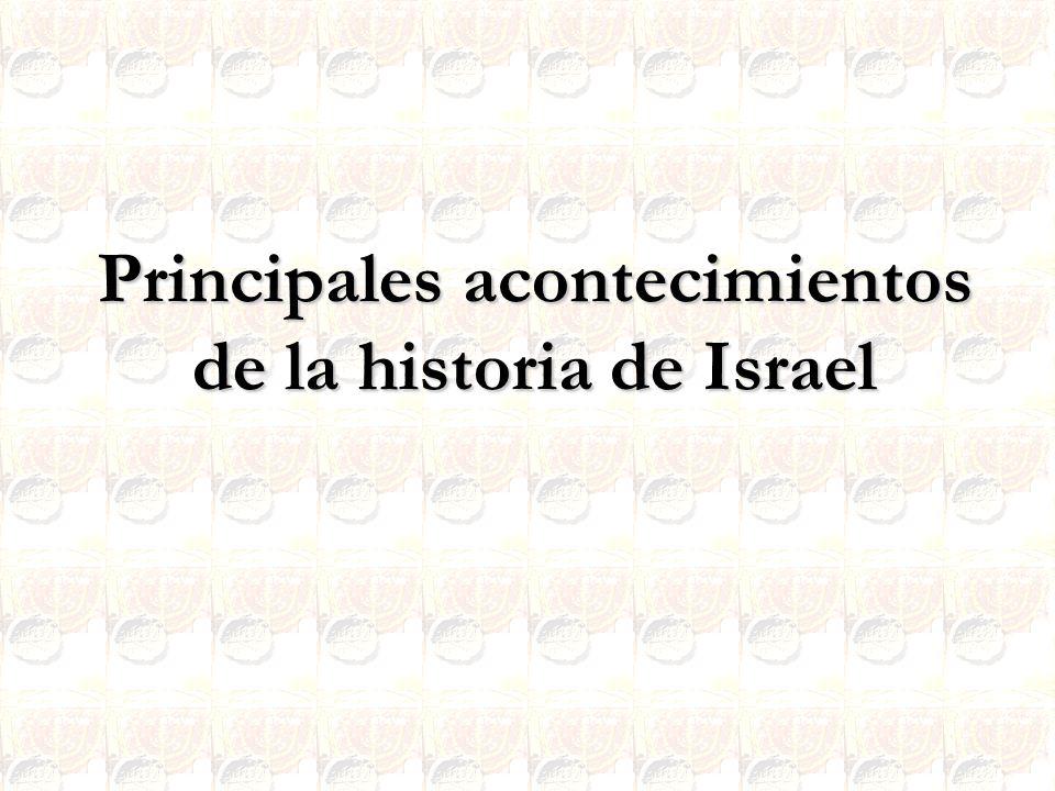 Principales acontecimientos de la historia de Israel