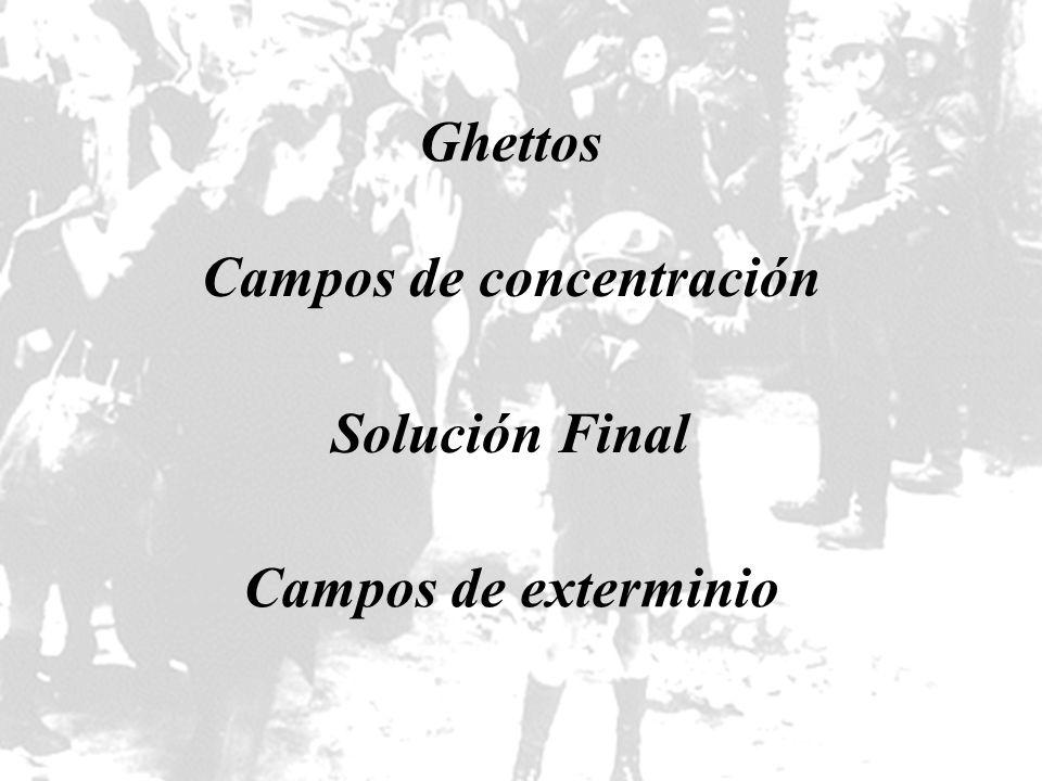 Ghettos Campos de concentración Solución Final Campos de exterminio