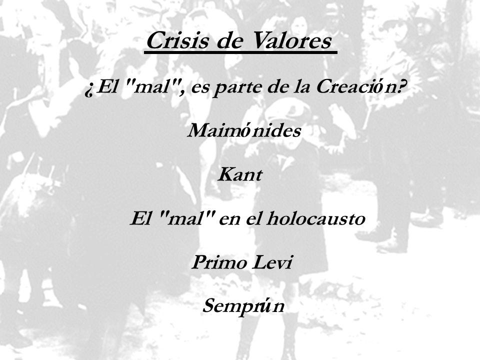 Crisis de Valores ¿ El