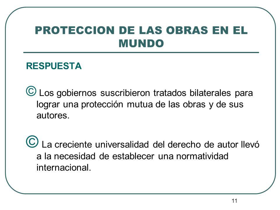 12 CONVENIO DE BERNA © Los países europeos lideraron la consolidación de un convenio multilateral que rigiera las relaciones de los países en materia de protección de las obras del intelecto humano.