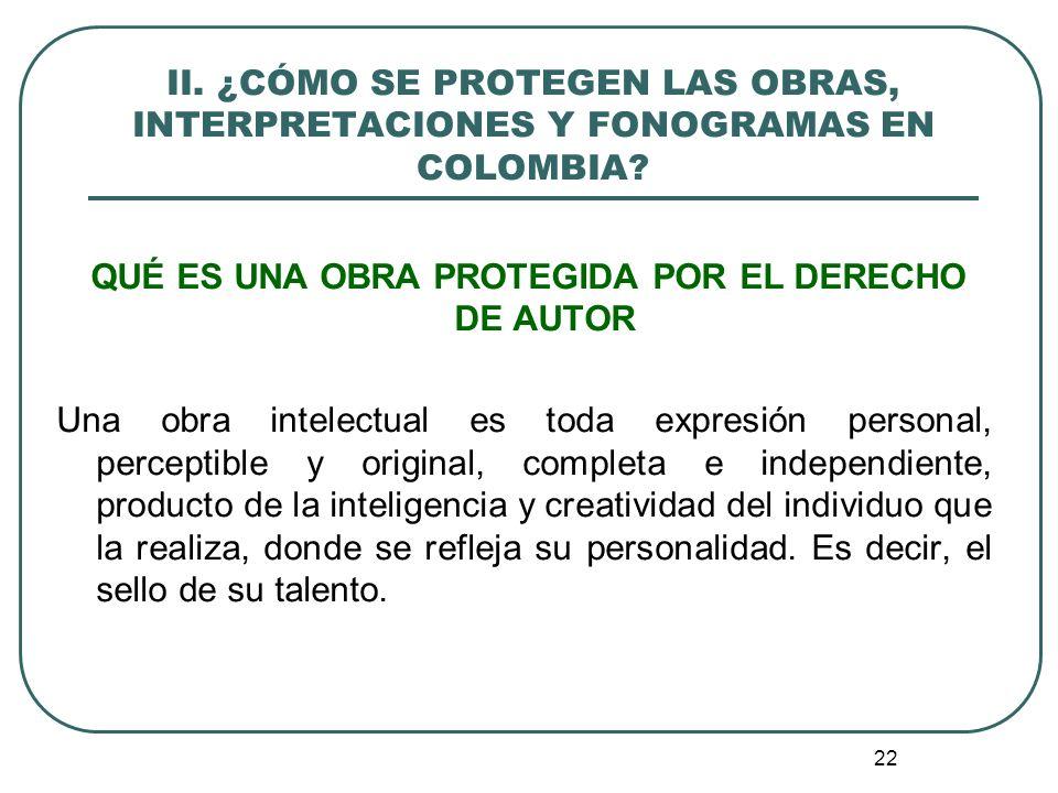 23 CRITERIOS DE PROTECCIÓN EN EL DERECHO DE AUTOR 1.