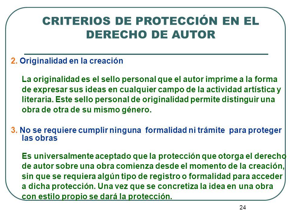 25 CRITERIOS DE PROTECCIÓN EN EL DERECHO DE AUTOR ¿Pero, qué función cumple el registro de la obra.