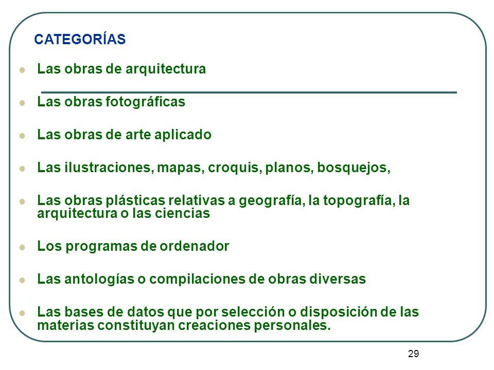 30 CLASES DE OBRAS 1.Obras literarias y artística 2.
