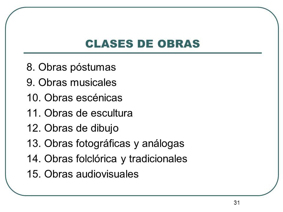 32 CLASES DE OBRAS 1.
