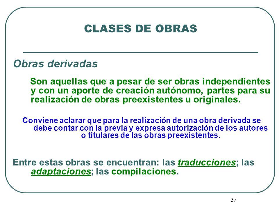 38 CLASES DE OBRAS 4.