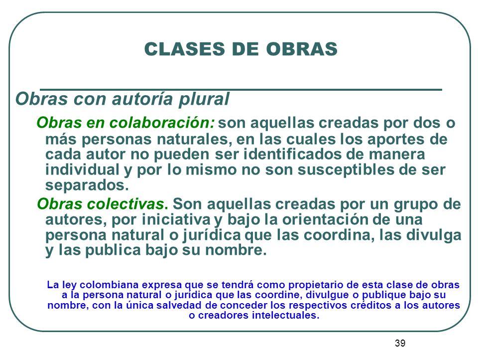 40 CLASES DE OBRAS 5.