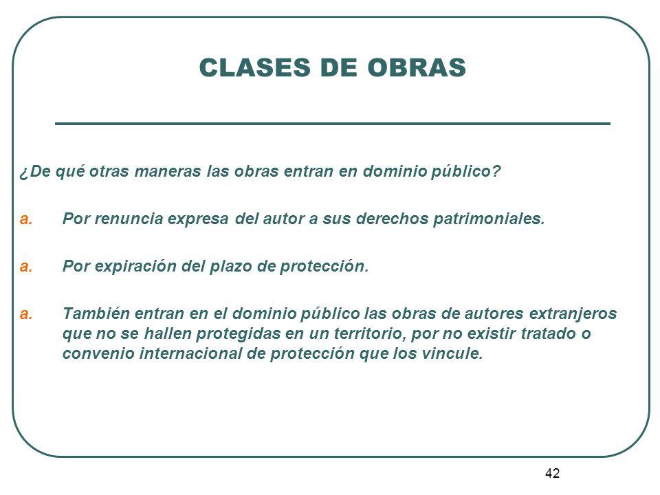 43 CLASES DE OBRAS 6.