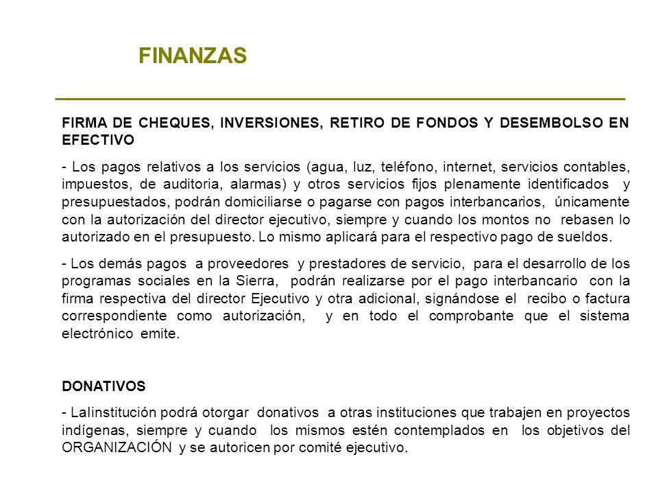 FINANZAS FIRMA DE CHEQUES, INVERSIONES, RETIRO DE FONDOS Y DESEMBOLSO EN EFECTIVO - Los pagos relativos a los servicios (agua, luz, teléfono, internet