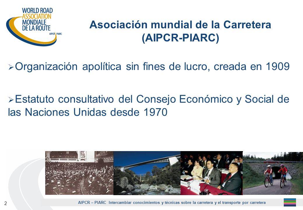 AIPCR – PIARC Intercambiar conocimientos y técnicas sobre la carretera y el transporte por carretera 3 ¿AIPCR / PIARC .