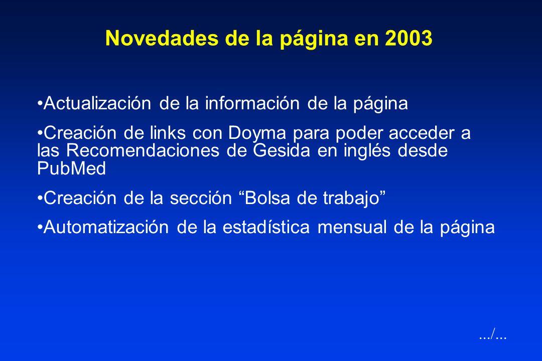 Página web de GESIDA (http://www.gesidaseimc.org) Soporte económico de Bristol y soporte técnico de ENE Publicidad (Madrid). Coordinación: Juan Carlos