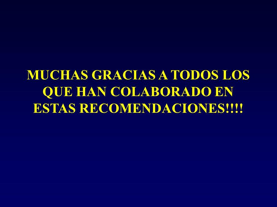 MUCHAS GRACIAS A TODOS LOS QUE HAN COLABORADO EN ESTAS RECOMENDACIONES!!!!