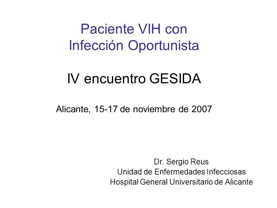 Enfermedades asociadas a SIDA: a propósito de un caso Historia Natural de la infección por VIH Manejo conjunto de infecciones oportunistas y TARGA: Interacciones