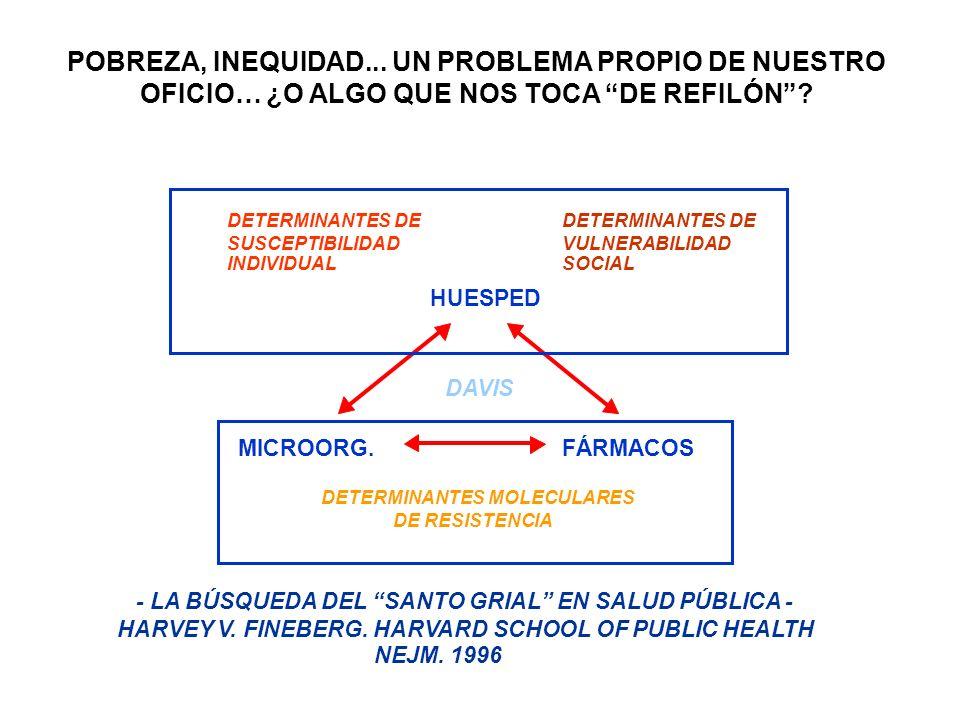 HUESPED MICROORG.FÁRMACOS DETERMINANTES DE SUSCEPTIBILIDAD INDIVIDUAL DETERMINANTES DE VULNERABILIDAD SOCIAL DETERMINANTES MOLECULARES DE RESISTENCIA