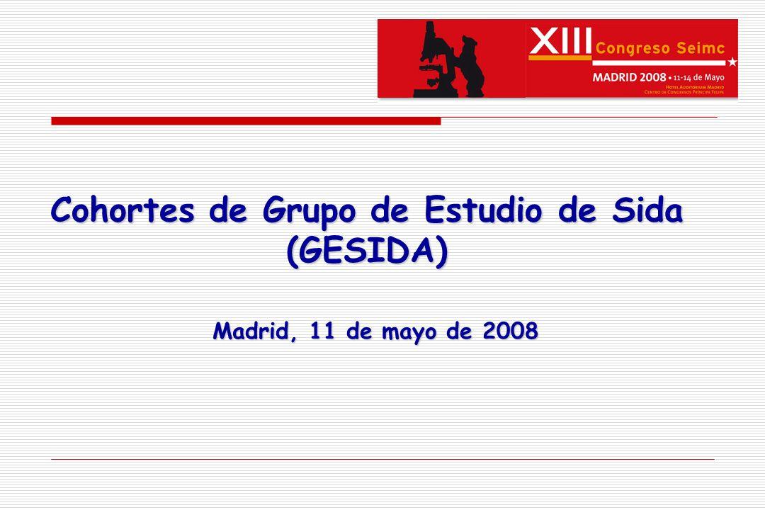 Cohortes de Grupo de Estudio de Sida (GESIDA) Madrid, 11 de mayo de 2008