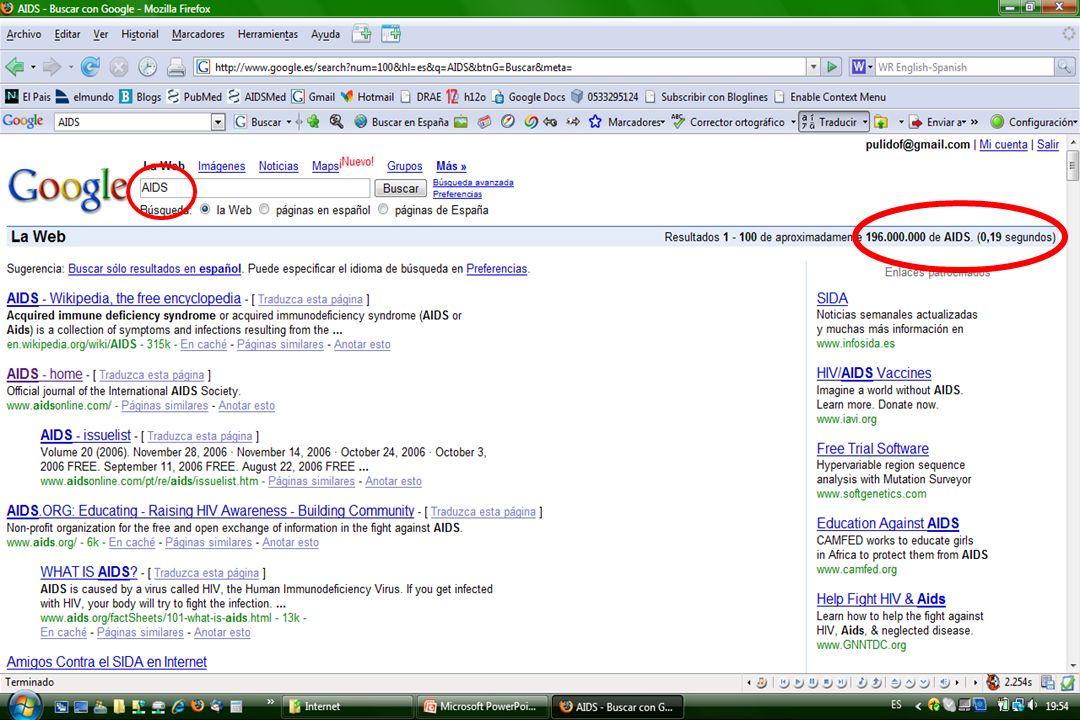 u De la búsqueda de la aguja en el pajar...www.google.com u...al pajar lleno de agujas.
