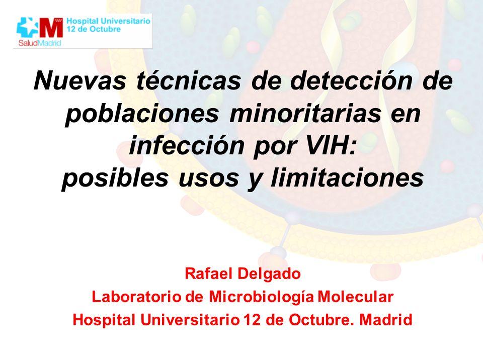 Nuevas técnicas de detección de poblaciones minoritarias en infección por VIH: posibles usos y limitaciones Rafael Delgado Laboratorio de Microbiologí