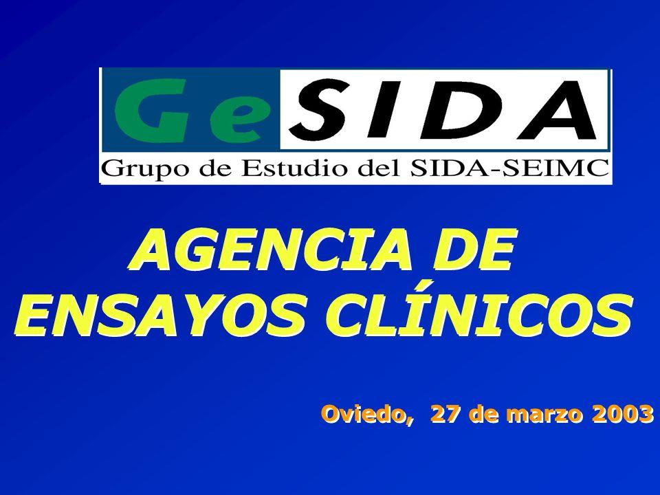 AGENCIA DE ENSAYOS CLÍNICOS Oviedo, 27 de marzo 2003 AGENCIA DE ENSAYOS CLÍNICOS Oviedo, 27 de marzo 2003