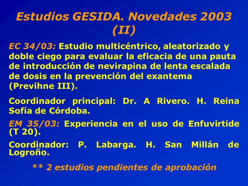Estudios GESIDA.