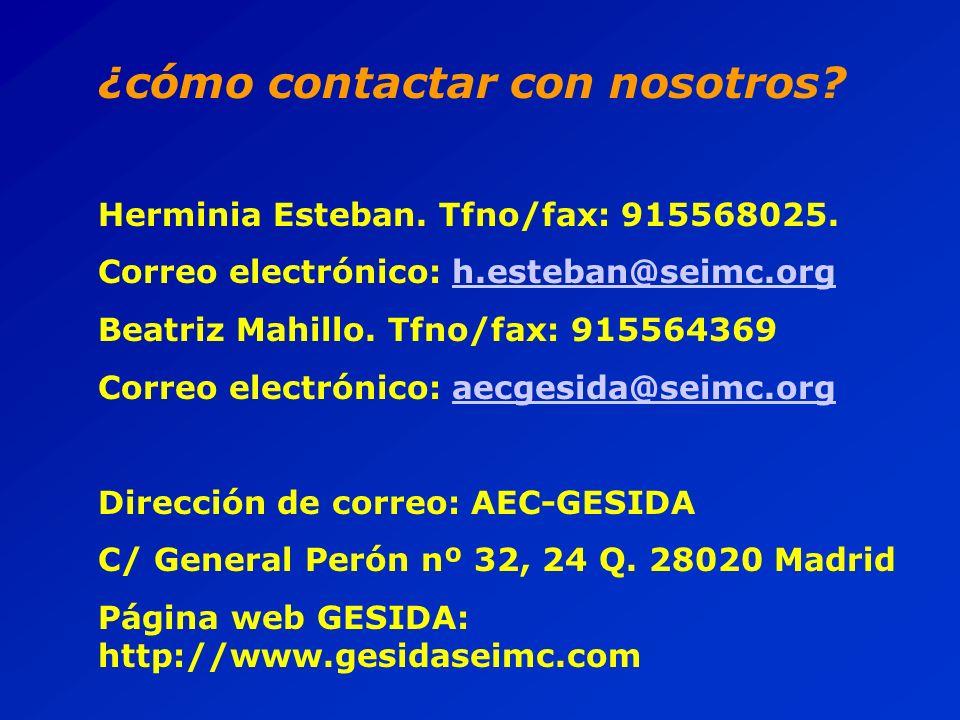 ¿cómo contactar con nosotros. Herminia Esteban. Tfno/fax: 915568025.